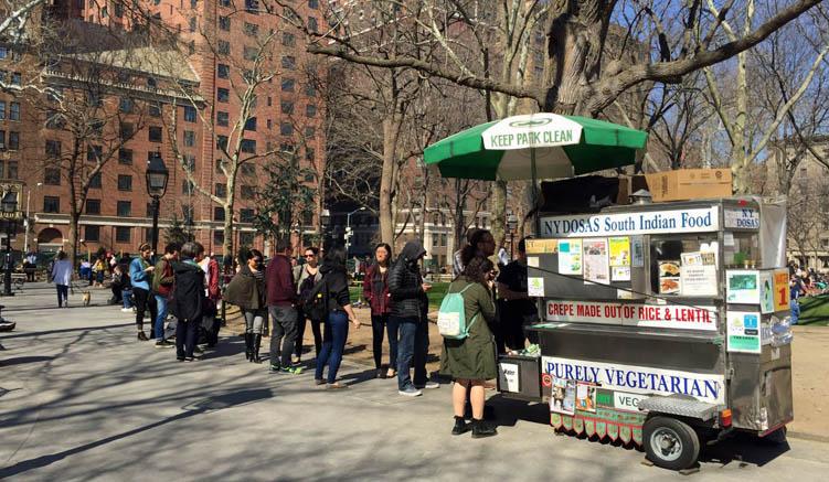 Kumars kleiner Wagen im Washington Square Park