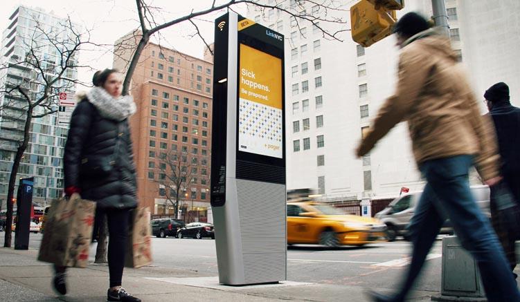 Link NYC- Free WiFi auf den Straßen New Yorks (Bildquelle: ©CityBridge)