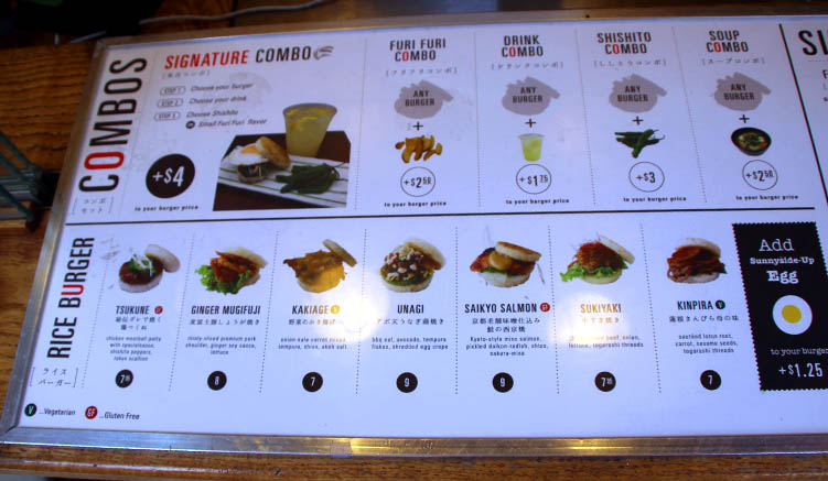 Reisburger satt: Das Menü im Yonekishi