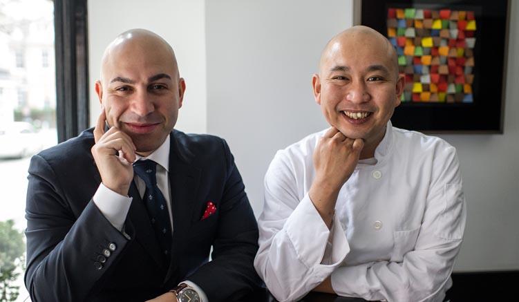 Sushi Nakazawa - Besitzer Alessandro Borgognone (li) und Chef Daisuke Nakazawa