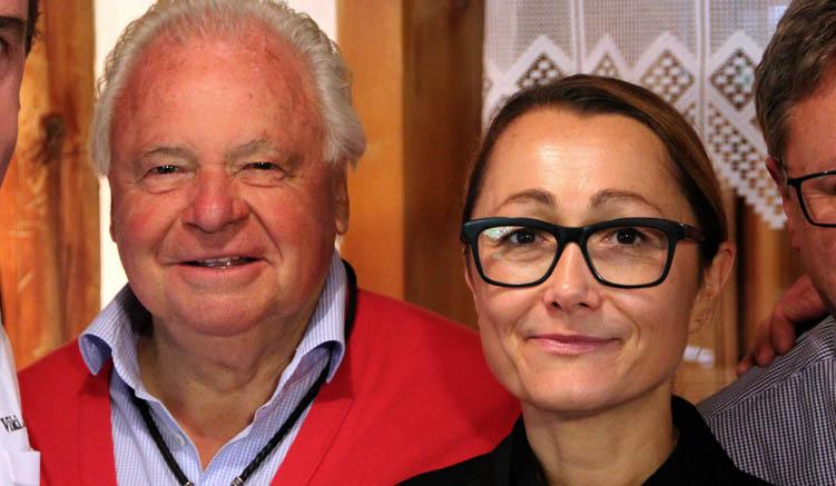Tanja Grandits und Jahrhundertkoch Eckart Witzigmann beim Kulinarischen Jakobsweg 2016