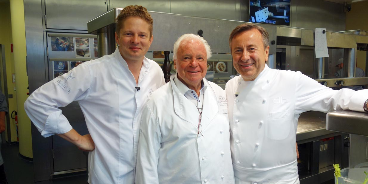 Martin Klein, Eckart Witzigmann, Daniel Boulud (v. Li.)