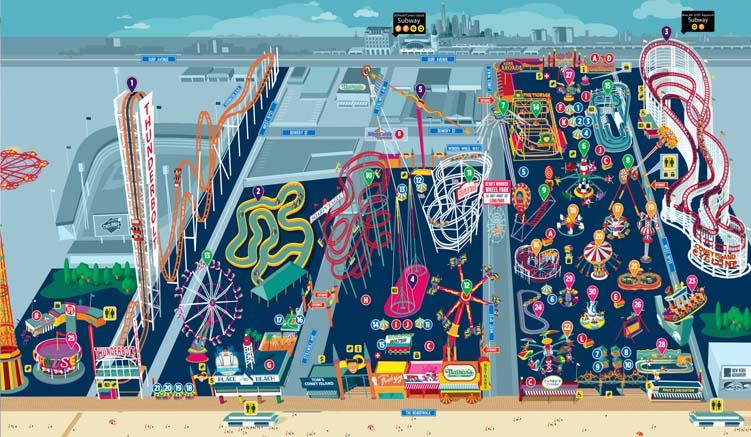 Plan des Luna Parks