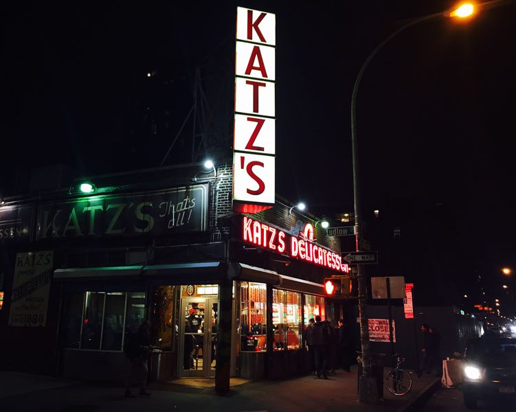 Katz´s Delicatessen in New York City