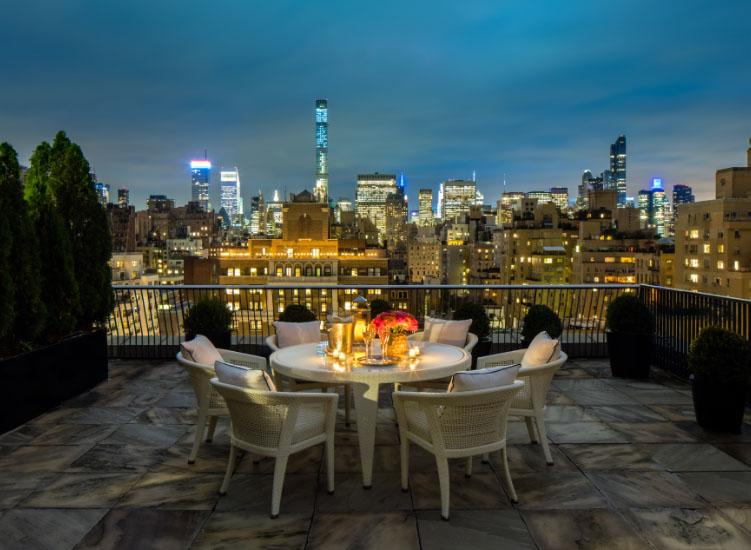 Die Aussicht vom The Mark Hotel über Manhattan